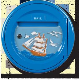 Ronde bateau bleu foncé
